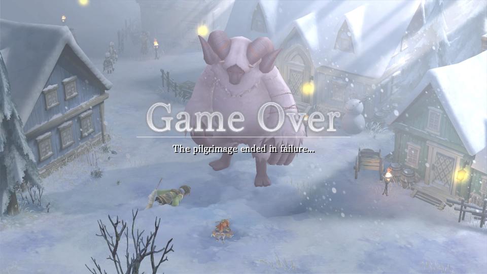 I Am Setsuna: game over