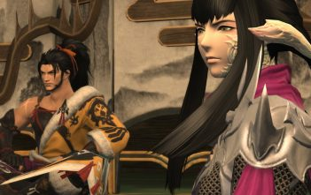 Final Fantasy XIV patch 4.2: Rise of a New Sun screenshot - Hien and Yugiri talking