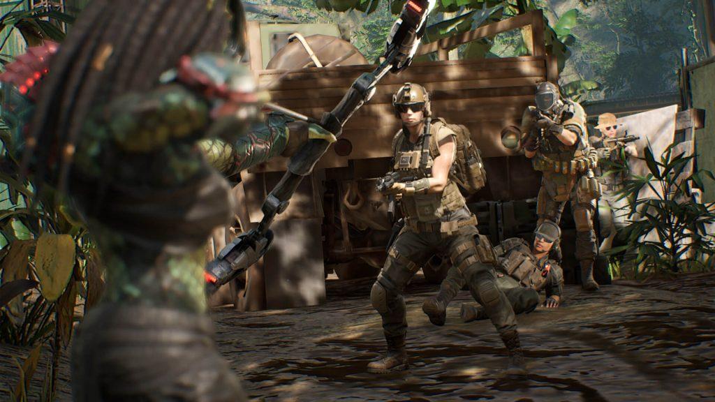 A screenshot from Predator: Hunting Grounds.