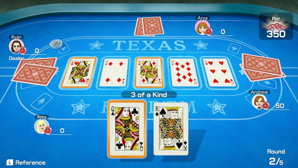 A screenshot from 51 Worldwide Games, showing a game of Texas Hold 'em Poker