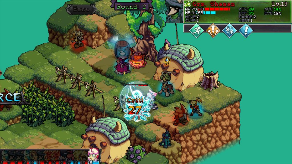 A screenshot from Fae Tactics, one of the games with a demo featured in the Steam Game Festival.