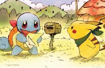 Pokemon Mystery Dungeon: Rescue Team DX artwork showing Squirtle and Pikachu checking their mailbox for new jobs